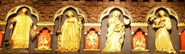 Perugia. Palazzo dei Priori, Merchants' Guild Hall: detail