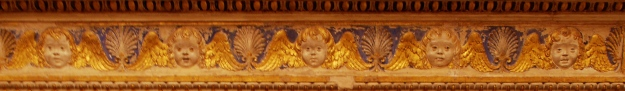 Urbino: Ducal Palace, fireplace detail