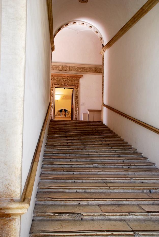 Urbino: Ducal Palace, interior, stairway